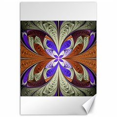 Fractal Splits Silver Gold Canvas 20  X 30