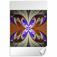 Fractal Splits Silver Gold Canvas 24  X 36  by Celenk
