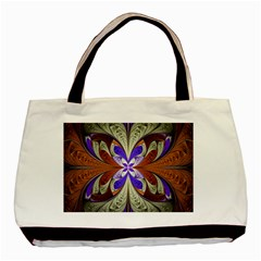 Fractal Splits Silver Gold Basic Tote Bag (two Sides) by Celenk