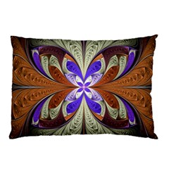 Fractal Splits Silver Gold Pillow Case by Celenk