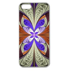 Fractal Splits Silver Gold Apple Seamless Iphone 5 Case (clear) by Celenk