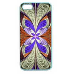 Fractal Splits Silver Gold Apple Seamless Iphone 5 Case (color) by Celenk
