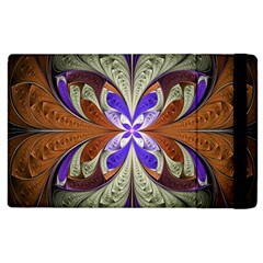 Fractal Splits Silver Gold Apple Ipad 3/4 Flip Case by Celenk