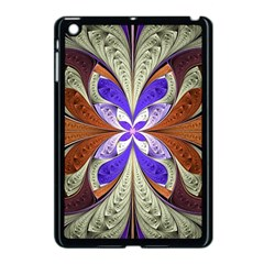 Fractal Splits Silver Gold Apple Ipad Mini Case (black) by Celenk