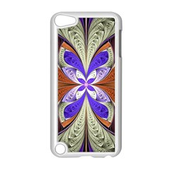 Fractal Splits Silver Gold Apple Ipod Touch 5 Case (white) by Celenk