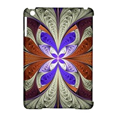 Fractal Splits Silver Gold Apple Ipad Mini Hardshell Case (compatible With Smart Cover) by Celenk