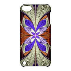 Fractal Splits Silver Gold Apple Ipod Touch 5 Hardshell Case With Stand by Celenk