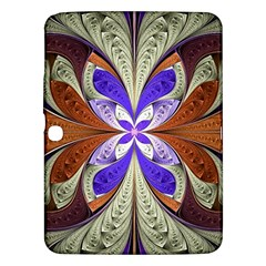 Fractal Splits Silver Gold Samsung Galaxy Tab 3 (10 1 ) P5200 Hardshell Case  by Celenk