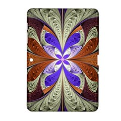 Fractal Splits Silver Gold Samsung Galaxy Tab 2 (10 1 ) P5100 Hardshell Case  by Celenk