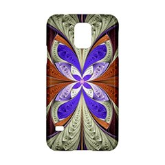 Fractal Splits Silver Gold Samsung Galaxy S5 Hardshell Case  by Celenk