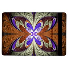 Fractal Splits Silver Gold Ipad Air 2 Flip by Celenk