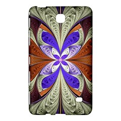 Fractal Splits Silver Gold Samsung Galaxy Tab 4 (8 ) Hardshell Case  by Celenk