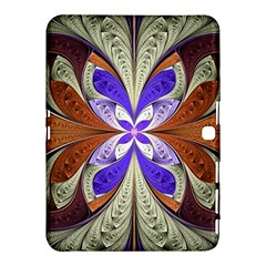 Fractal Splits Silver Gold Samsung Galaxy Tab 4 (10 1 ) Hardshell Case  by Celenk