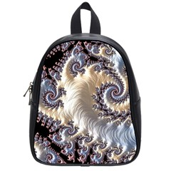 Fractal Art Design Fantasy 3d School Bag (small)