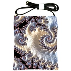 Fractal Art Design Fantasy 3d Shoulder Sling Bags by Celenk