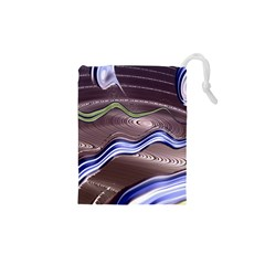 Art Design Decoration Card Color Drawstring Pouches (xs)  by Celenk