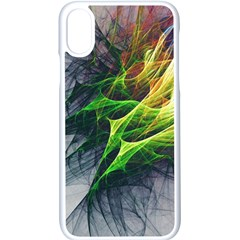 Fractal Art Paint Pattern Texture Apple Iphone X Seamless Case (white)