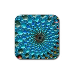Fractal Art Design Pattern Rubber Coaster (square)