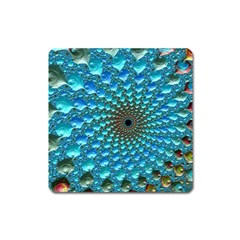 Fractal Art Design Pattern Square Magnet