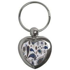 Pattern Embroidery Fabric Sew Key Chains (heart)  by Celenk