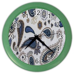 Pattern Embroidery Fabric Sew Color Wall Clocks by Celenk