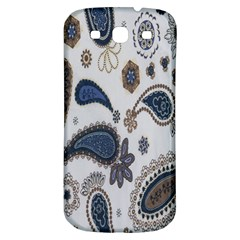 Pattern Embroidery Fabric Sew Samsung Galaxy S3 S Iii Classic Hardshell Back Case by Celenk