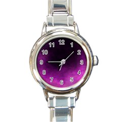 Ombre Round Italian Charm Watch by ValentinaDesign