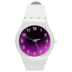 Ombre Round Plastic Sport Watch (m) by ValentinaDesign