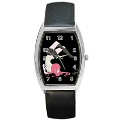 Scorpio Girl Barrel Style Metal Watch