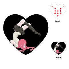 Scorpio Girl Playing Cards (heart)  by Valentinaart