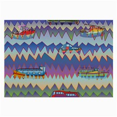 Zig Zag Boats Large Glasses Cloth (2 Side) by CosmicEsoteric