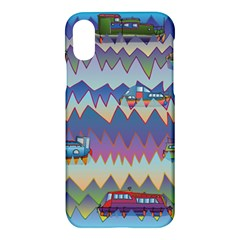Zig Zag Boats Apple Iphone X Hardshell Case by CosmicEsoteric