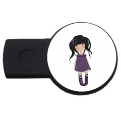 Dolly Girl In Purple Usb Flash Drive Round (4 Gb)