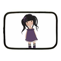 Dolly Girl In Purple Netbook Case (medium)  by Valentinaart