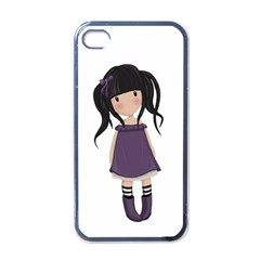 Dolly Girl In Purple Apple Iphone 4 Case (black) by Valentinaart