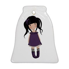 Dolly Girl In Purple Bell Ornament (two Sides) by Valentinaart