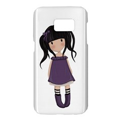 Dolly Girl In Purple Samsung Galaxy S7 Hardshell Case