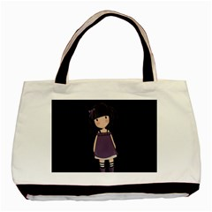 Dolly Girl In Purple Basic Tote Bag (two Sides)