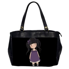 Dolly Girl In Purple Office Handbags (2 Sides)