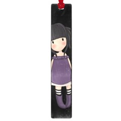 Dolly Girl In Purple Large Book Marks by Valentinaart