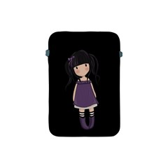 Dolly Girl In Purple Apple Ipad Mini Protective Soft Cases by Valentinaart