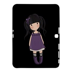 Dolly Girl In Purple Samsung Galaxy Tab 4 (10 1 ) Hardshell Case  by Valentinaart