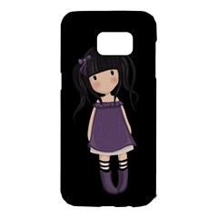 Dolly Girl In Purple Samsung Galaxy S7 Edge Hardshell Case by Valentinaart