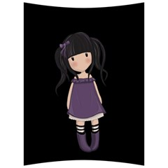 Dolly Girl In Purple Back Support Cushion by Valentinaart
