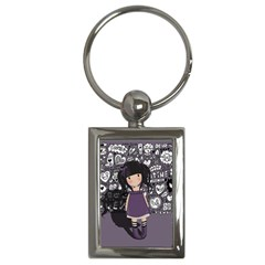 Dolly Girl In Purple Key Chains (rectangle)  by Valentinaart