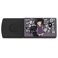 Dolly Girl In Purple Rectangular Usb Flash Drive by Valentinaart