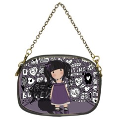 Dolly Girl In Purple Chain Purses (two Sides)  by Valentinaart