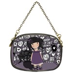 Dolly girl in purple Chain Purses (Two Sides)  Back