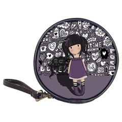 Dolly Girl In Purple Classic 20 Cd Wallets by Valentinaart