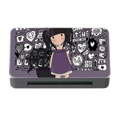 Dolly Girl In Purple Memory Card Reader With Cf